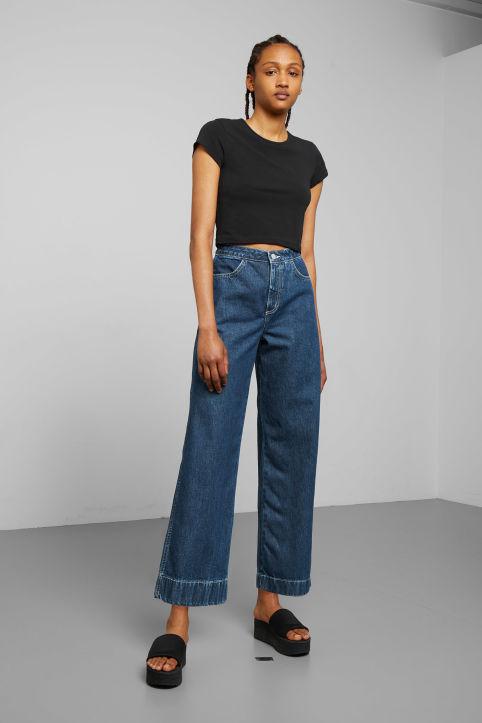 Line Vintage Look Straight Leg Jean - Wow blue Weekday Bl8u0bYfnj