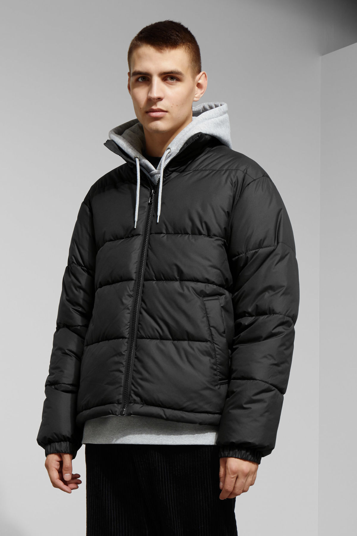 Model front image of Weekday cole jacket in black