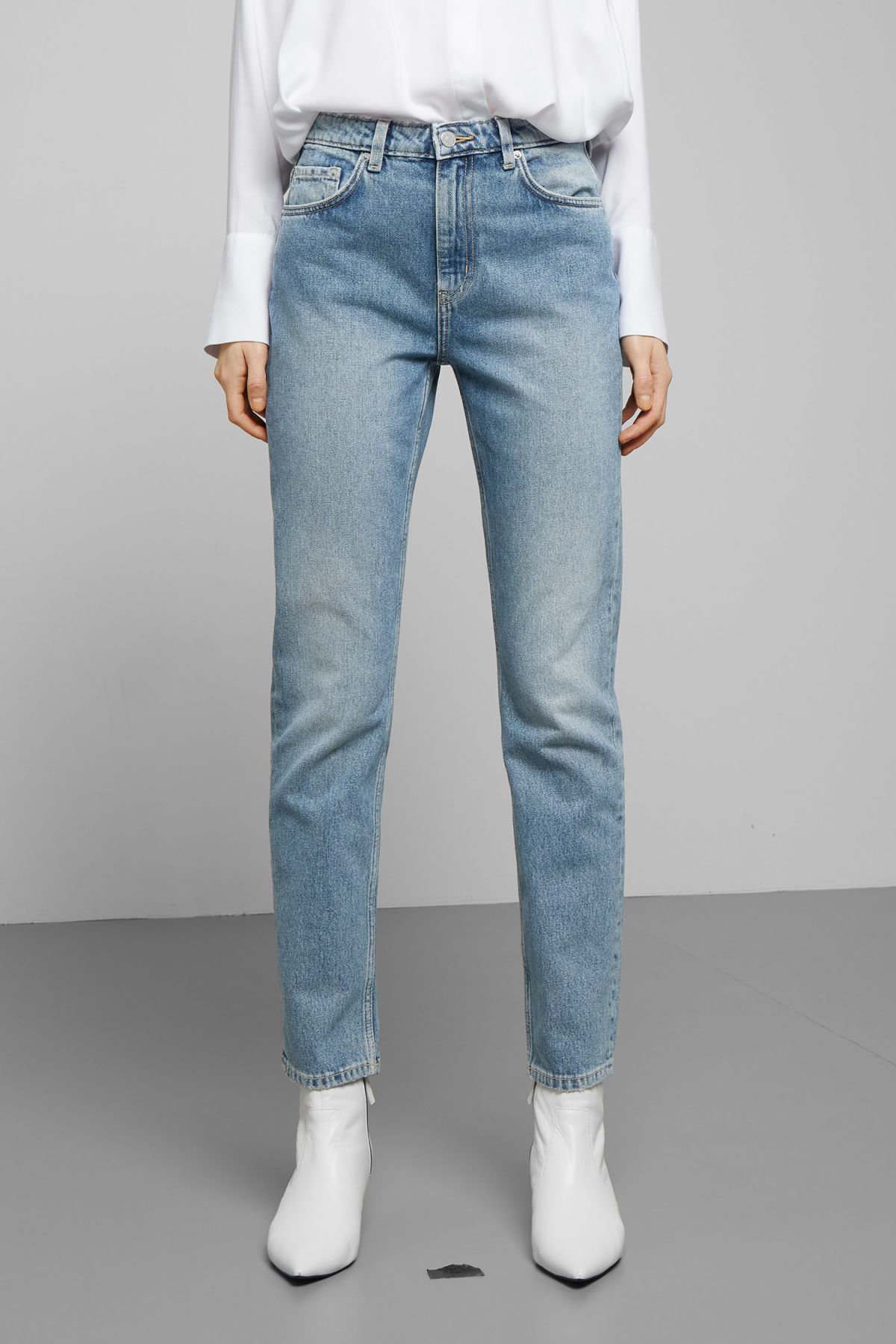Weekday Seattle Chelsea Blue Jeans - Blue Acheter Pas Cher Livraison Gratuite Coût Prix Pas Cher ikGm7RN