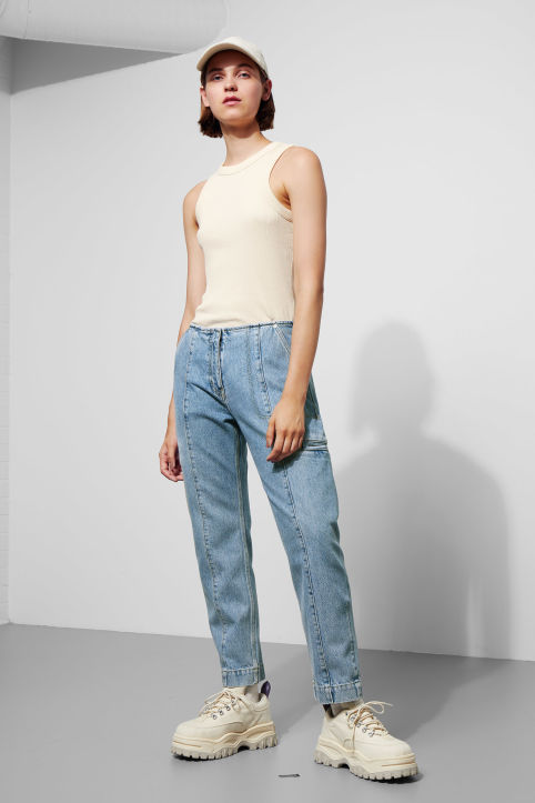 North Carolina Washed Blue Denim Trousers