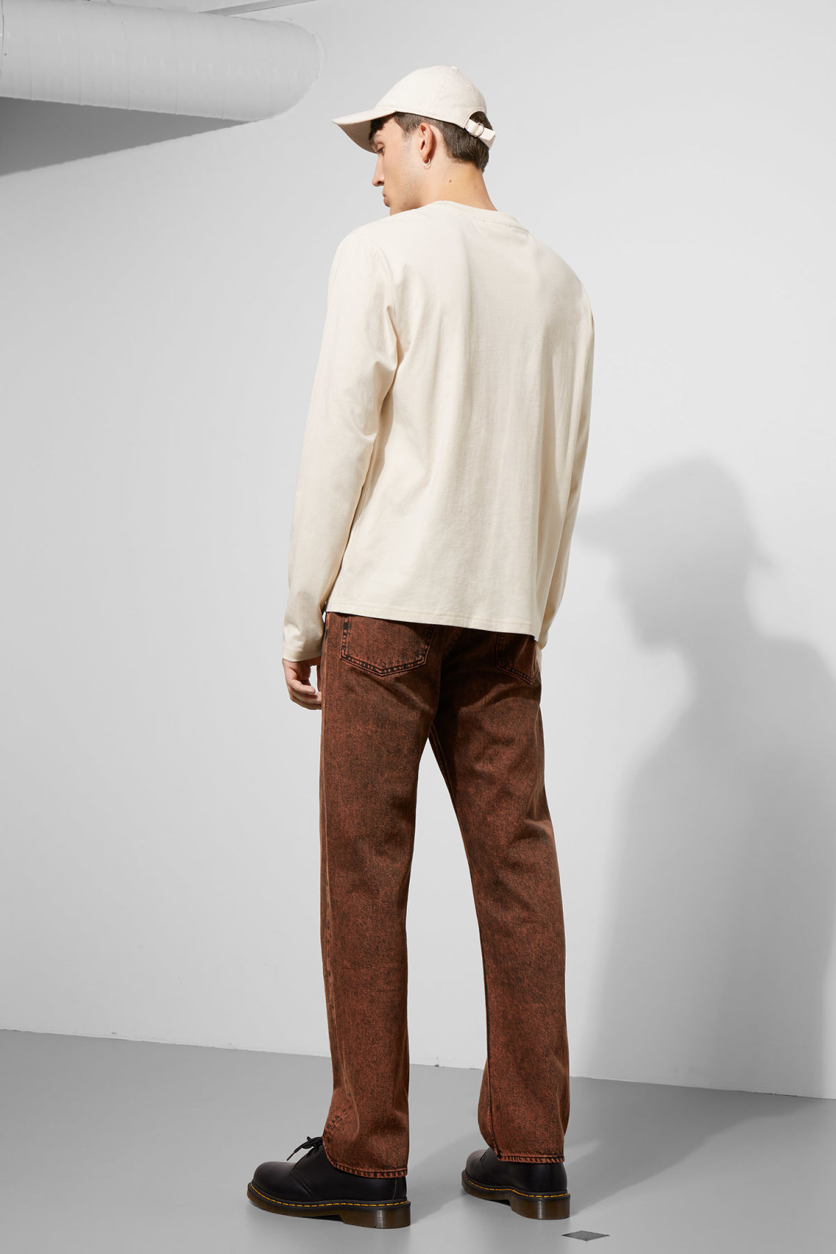 Model side image of Weekday  in beige