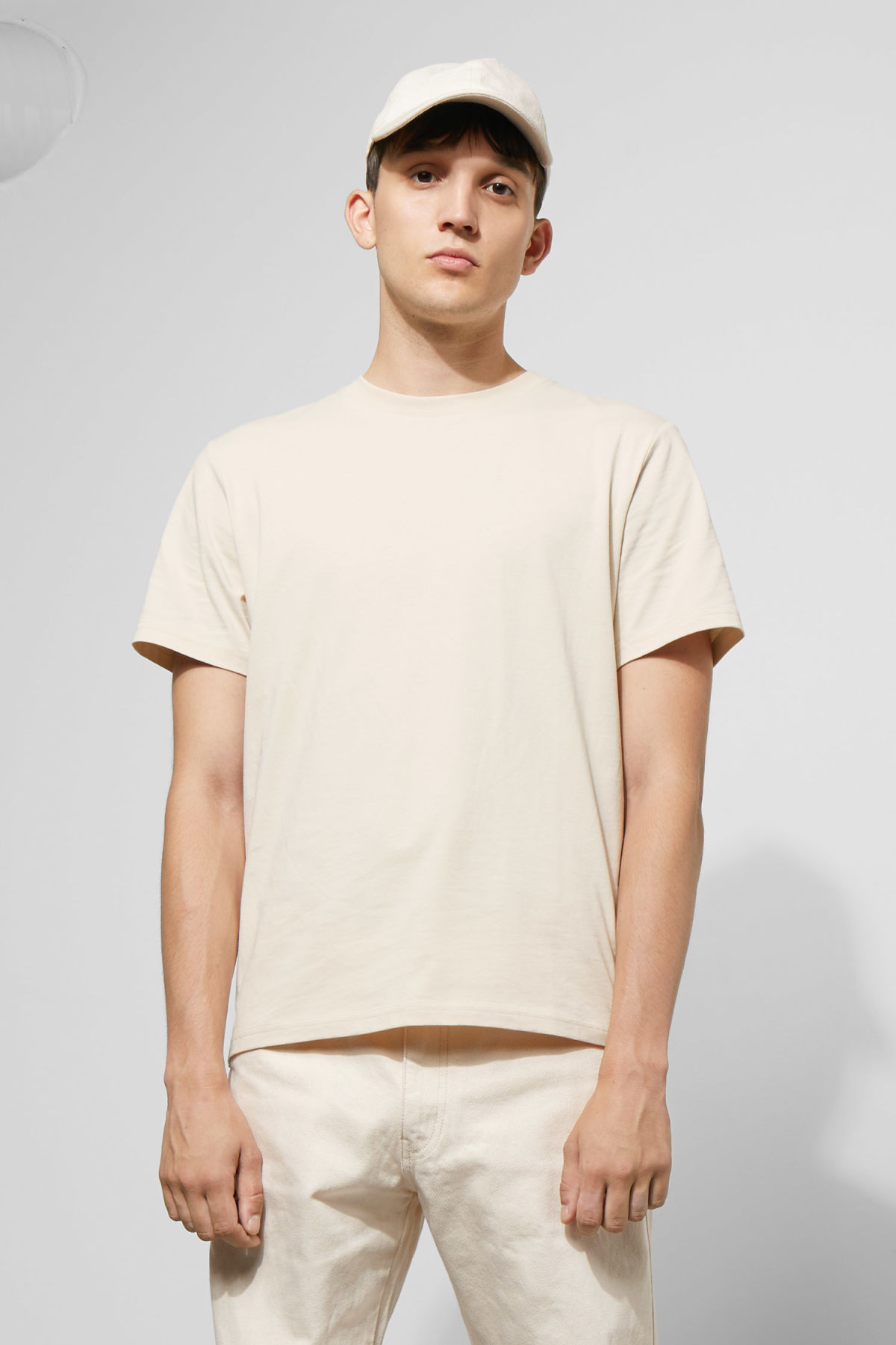 Model front image of Weekday  in beige
