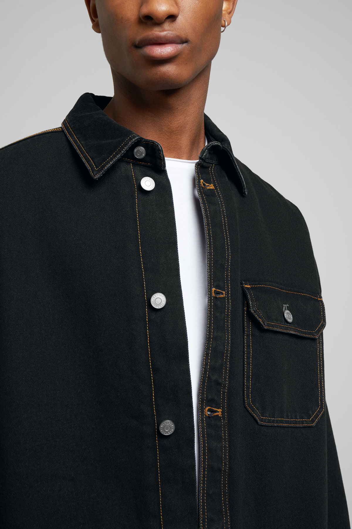 Model side image of Weekday  in black