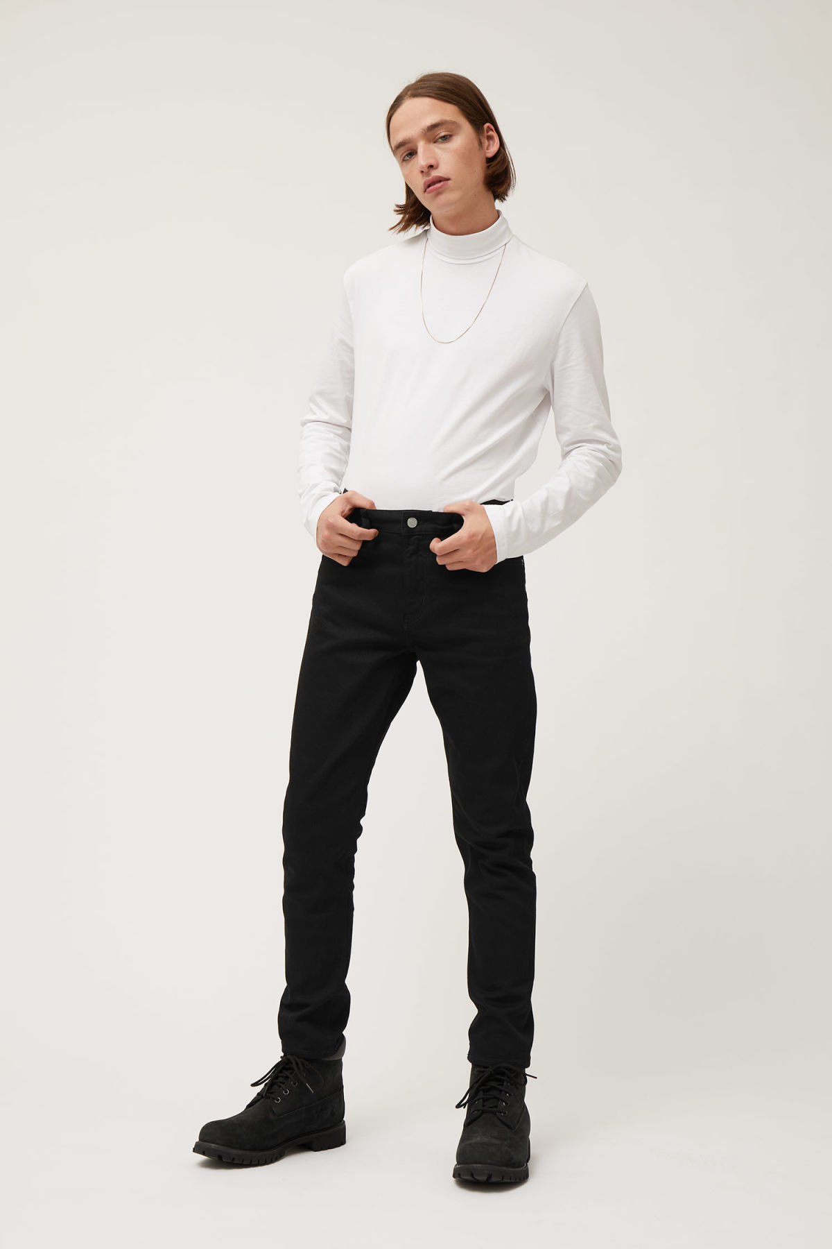 Model front image of Weekday sunday black jeans in black