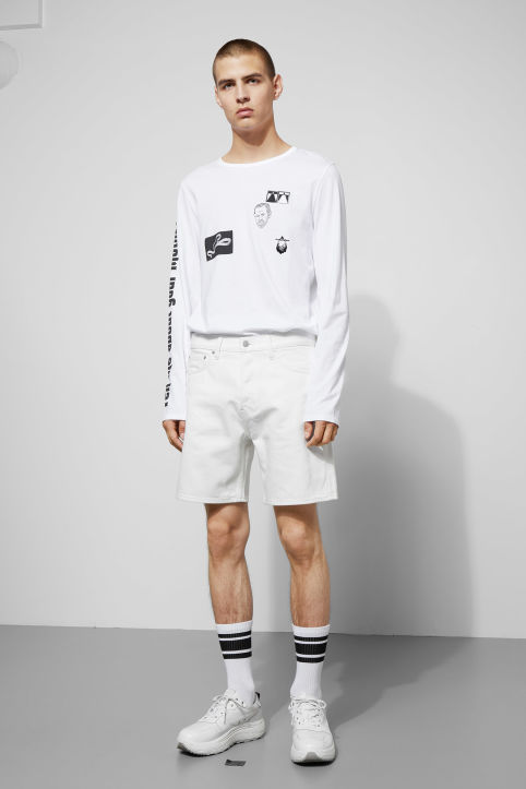Weekday Vacant Off White Shorts