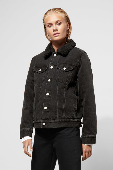 Single Black Pile Jacket