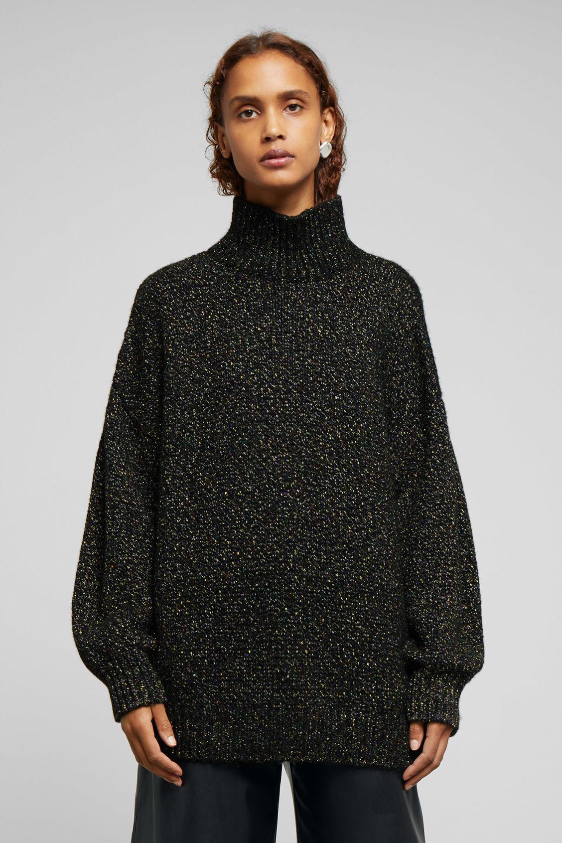 0b8be784361 Hailey Lurex Turtleneck - Black - Knitwear - Weekday