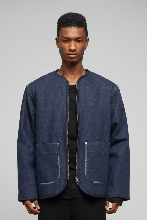 Weekday Harp Blue Rinsed Jacket