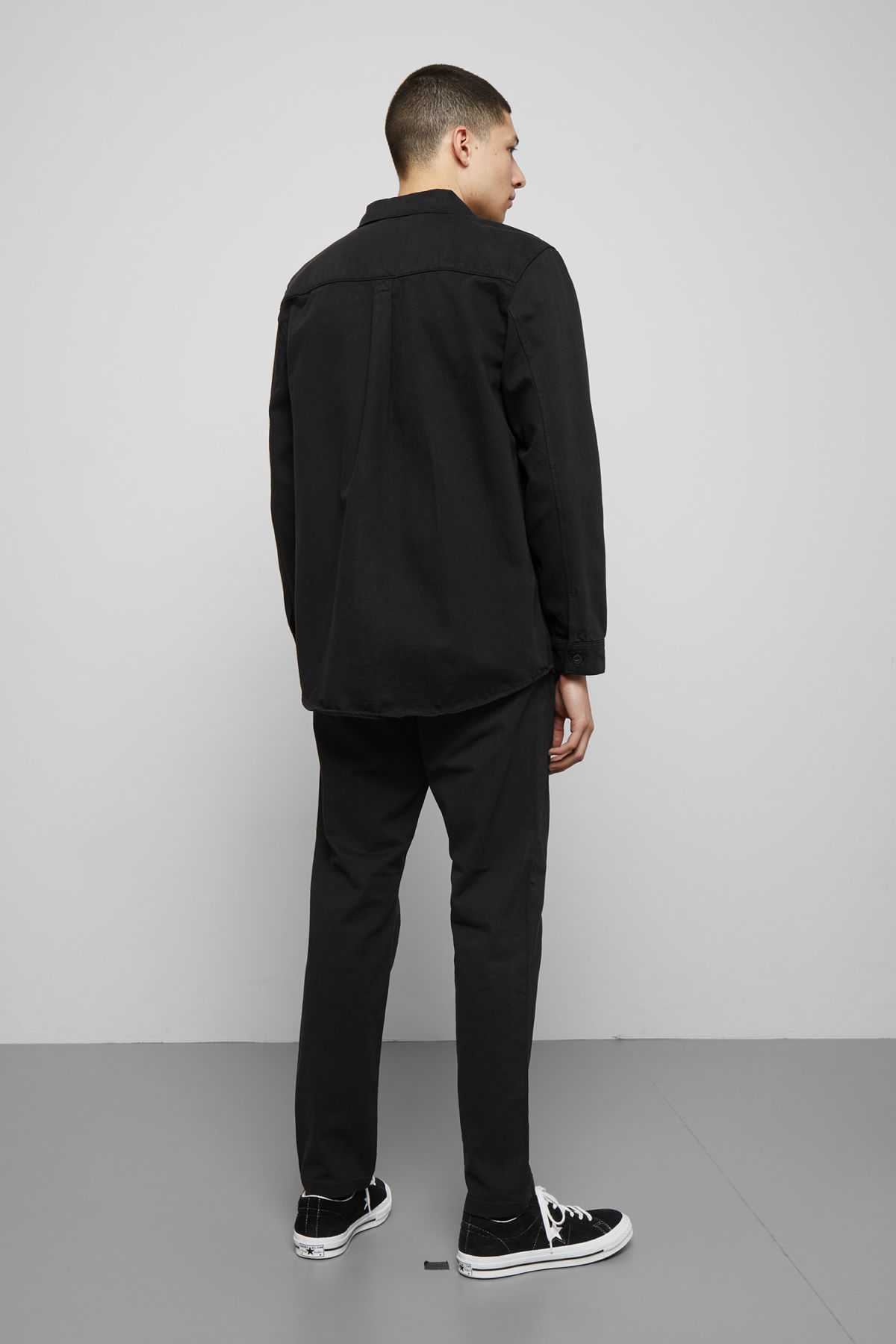 Model back image of Weekday  in black