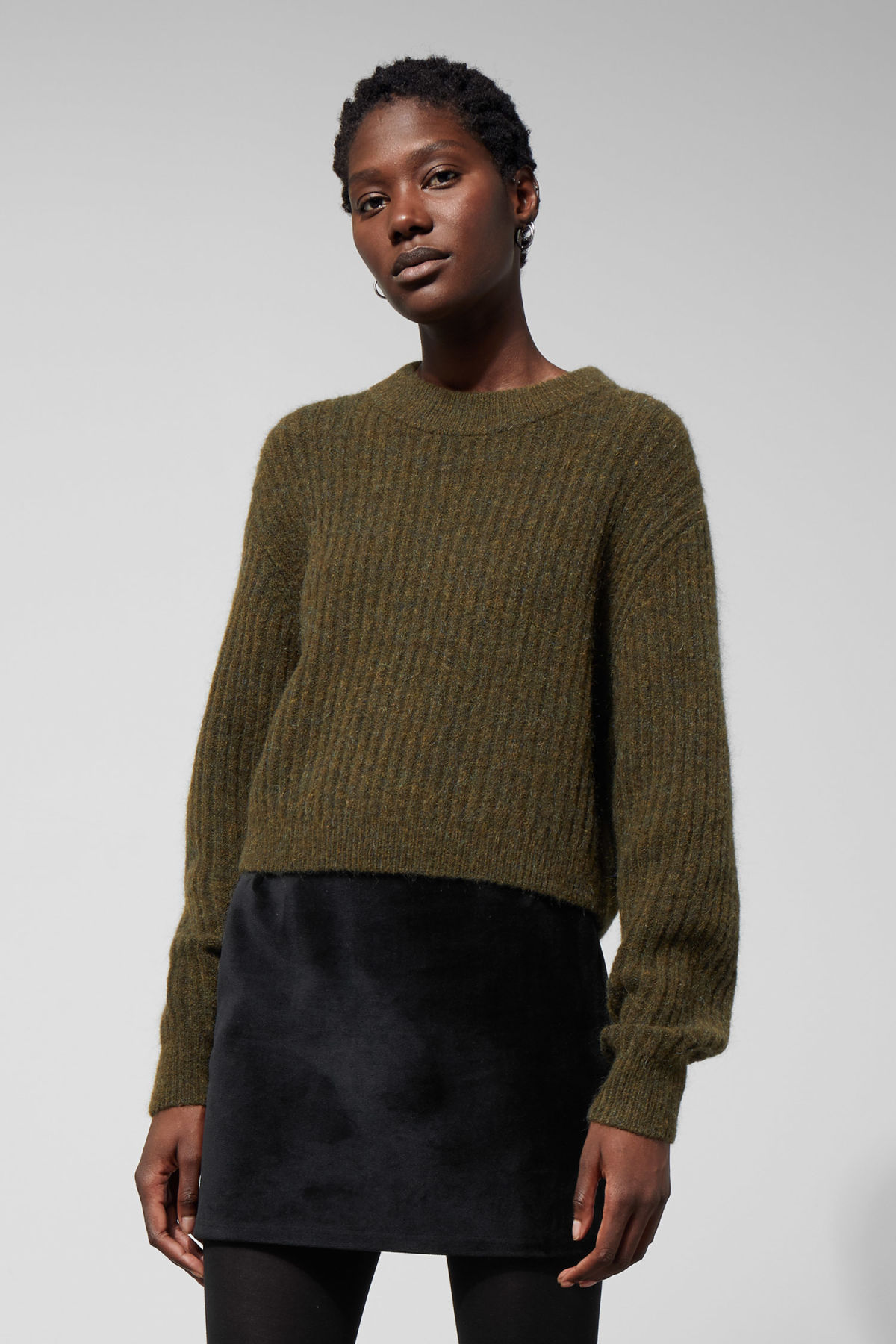 97201dc47cb82f Naya Knit Jumper - Green - Knitwear - Weekday