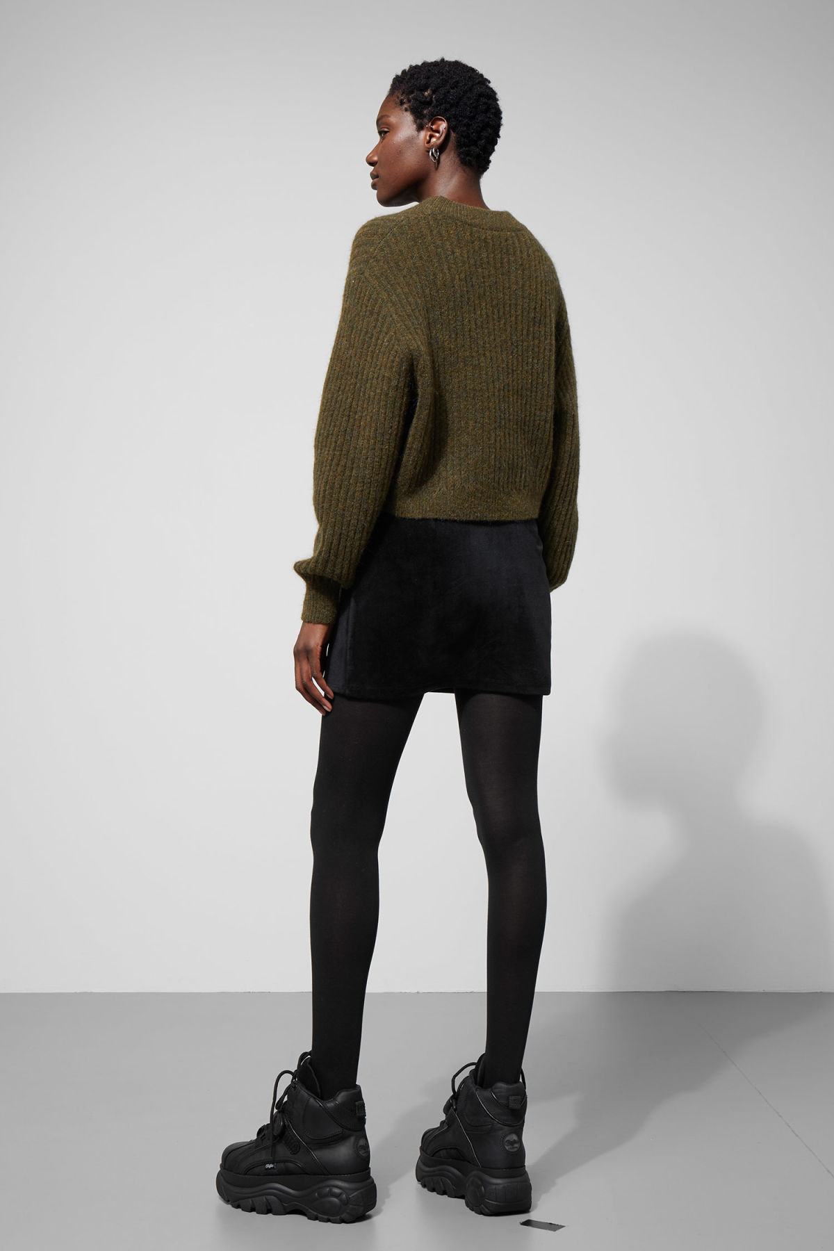 66566b3808f5be ... back image of Weekday in green Model side image of Weekday in green  Detailed image of Weekday in green. Tap first to zoom. Weekday. Naya Knit  Jumper