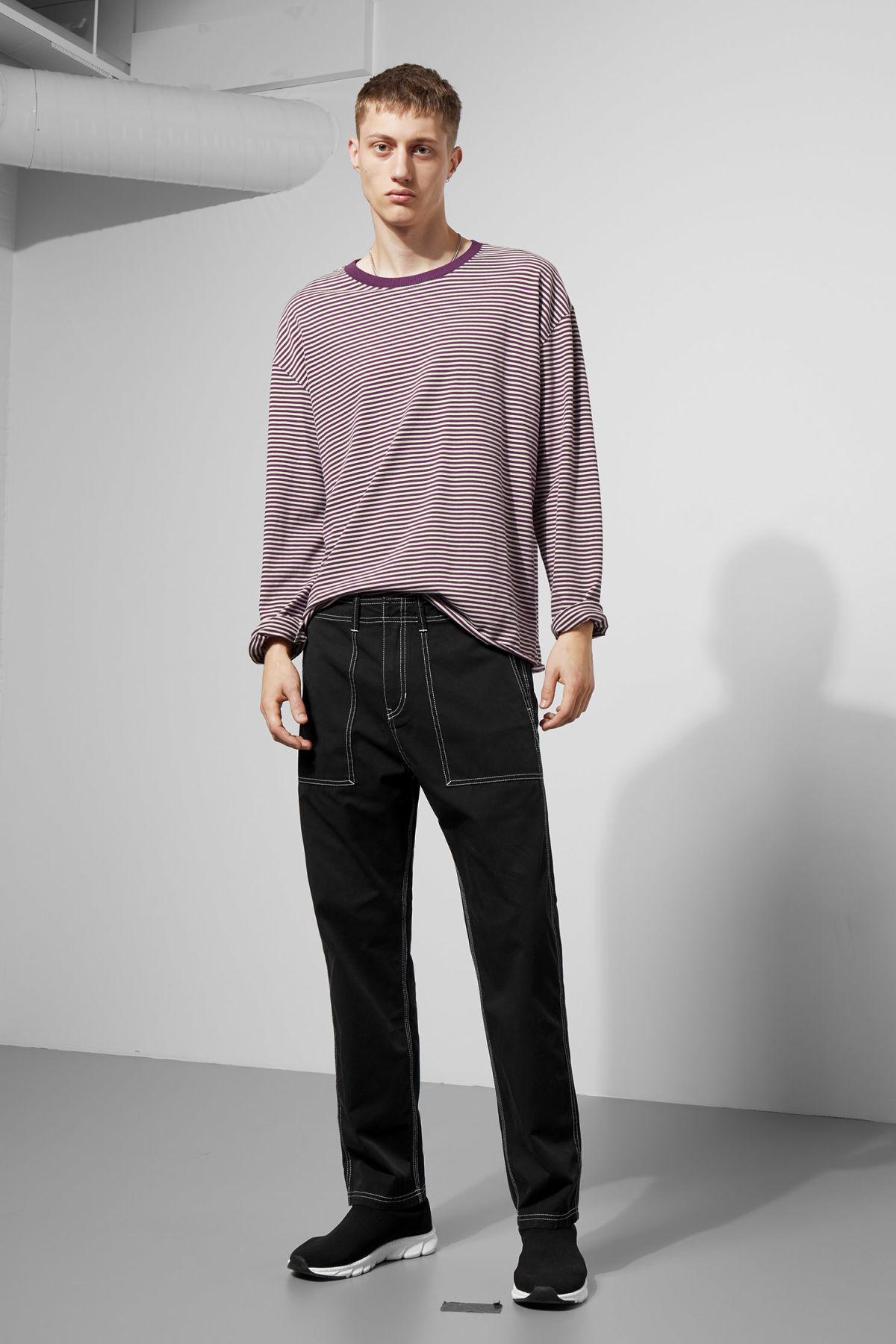 Model side image of Weekday  in purple