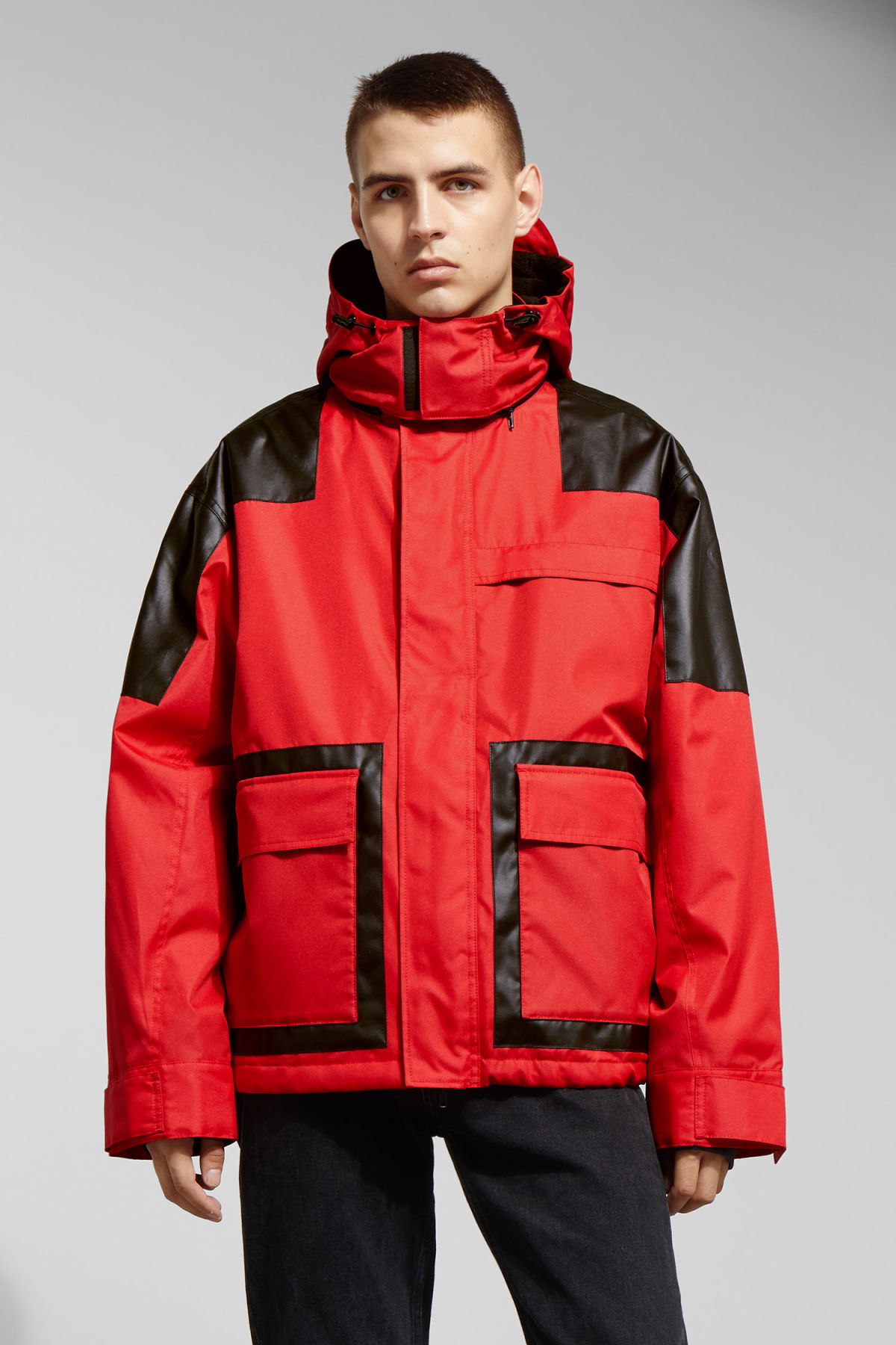 Model front image of Weekday brumal jacket in red