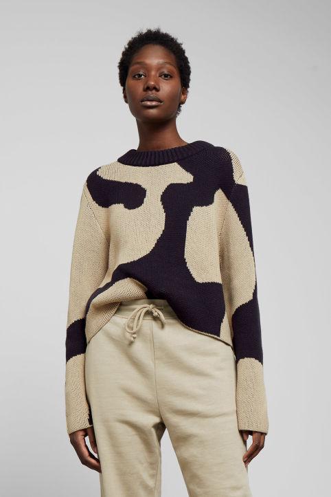 eb687dc31e Mae Jacquard Sweater - Blue - Knitwear - Weekday