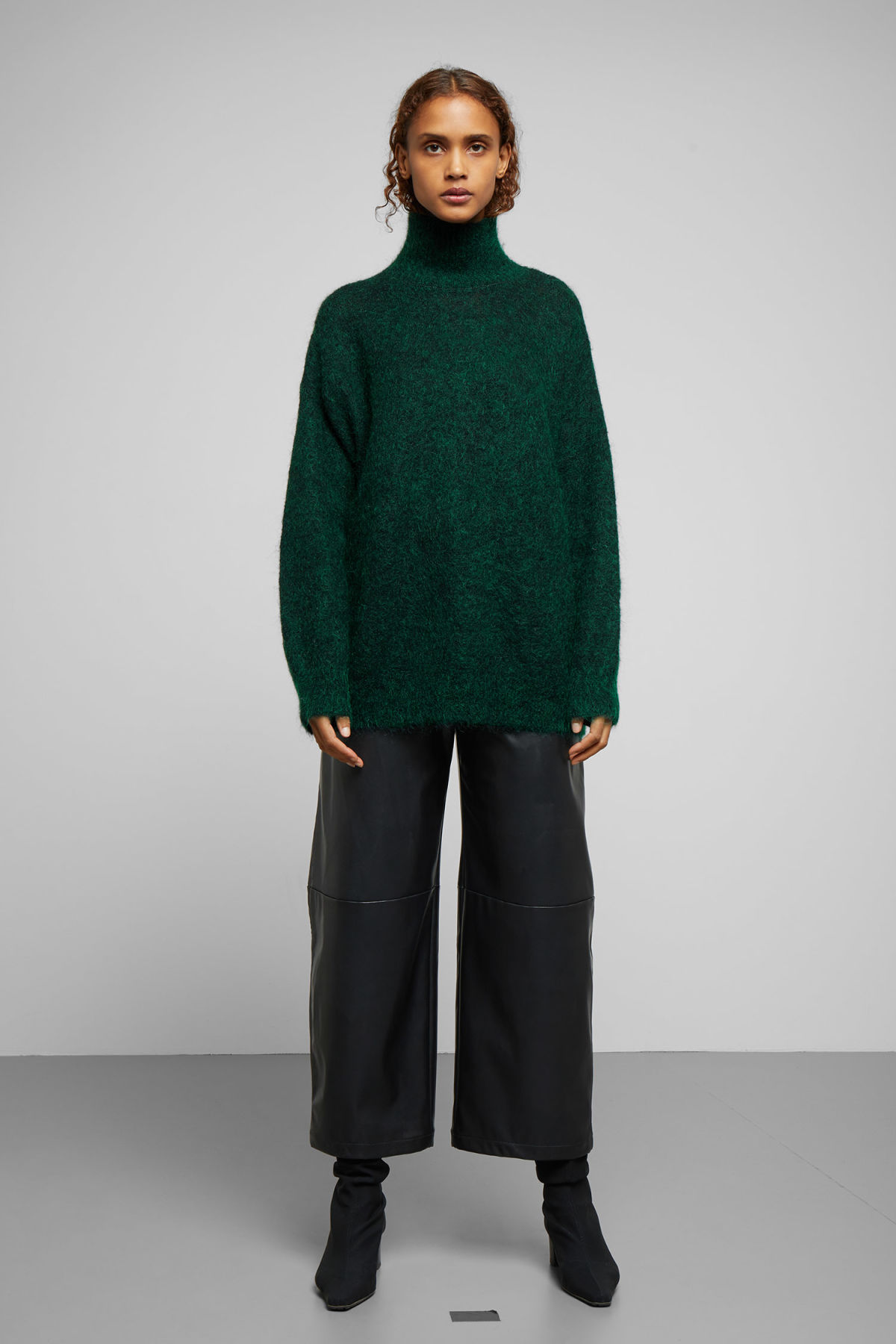7e1771d45e107 Hailey Wool and Mohair Blend Turtleneck - Beige - Knitwear - Weekday