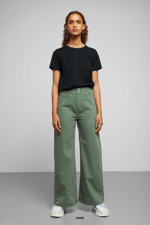 Weekday Workwear Green Jeans