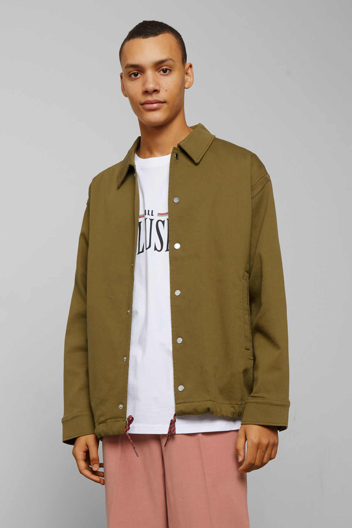 Model front image of Weekday trail jacket in green