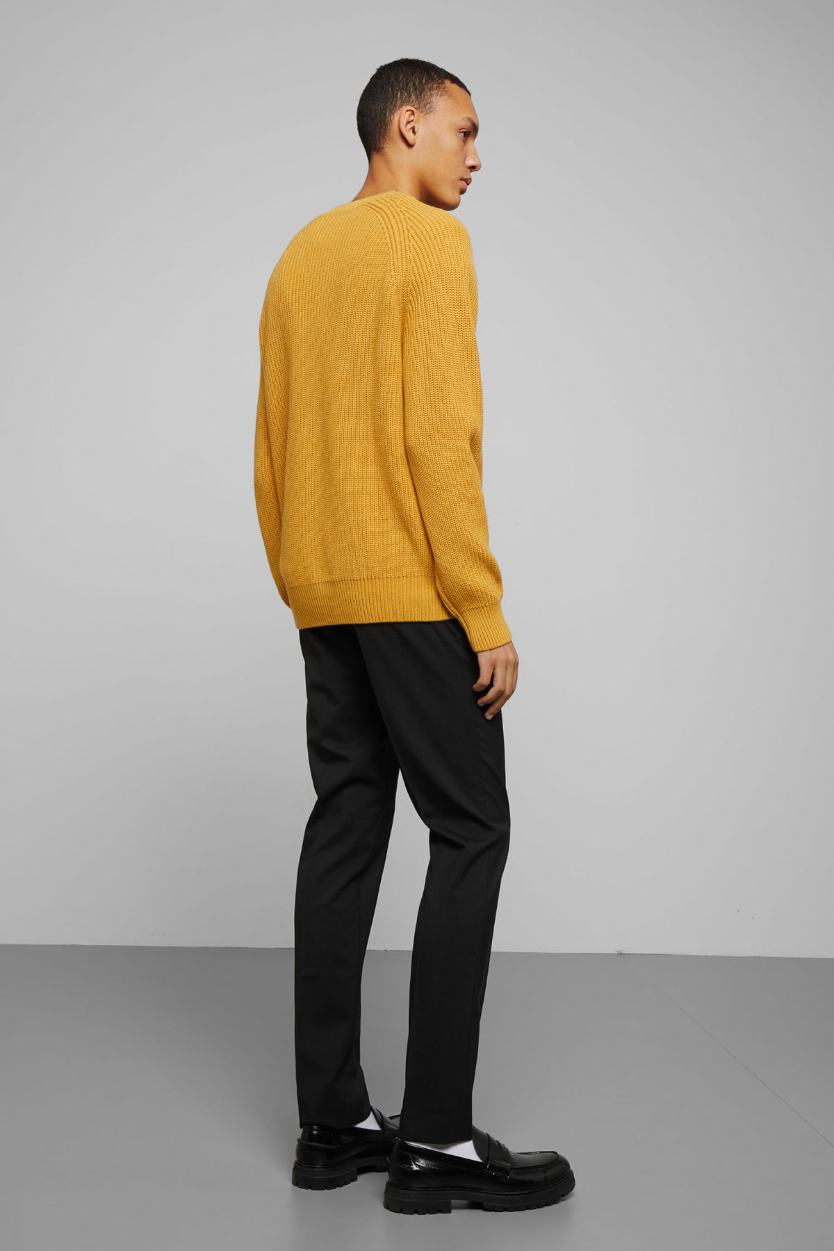 Model back image of Weekday sterling sweater in yellow