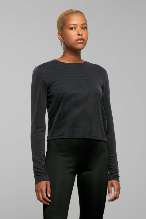 Weekday Cris Rib Long Sleeve Top