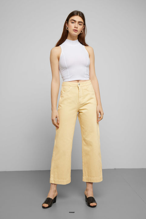 Weekday Vida Pale Yellow Jeans