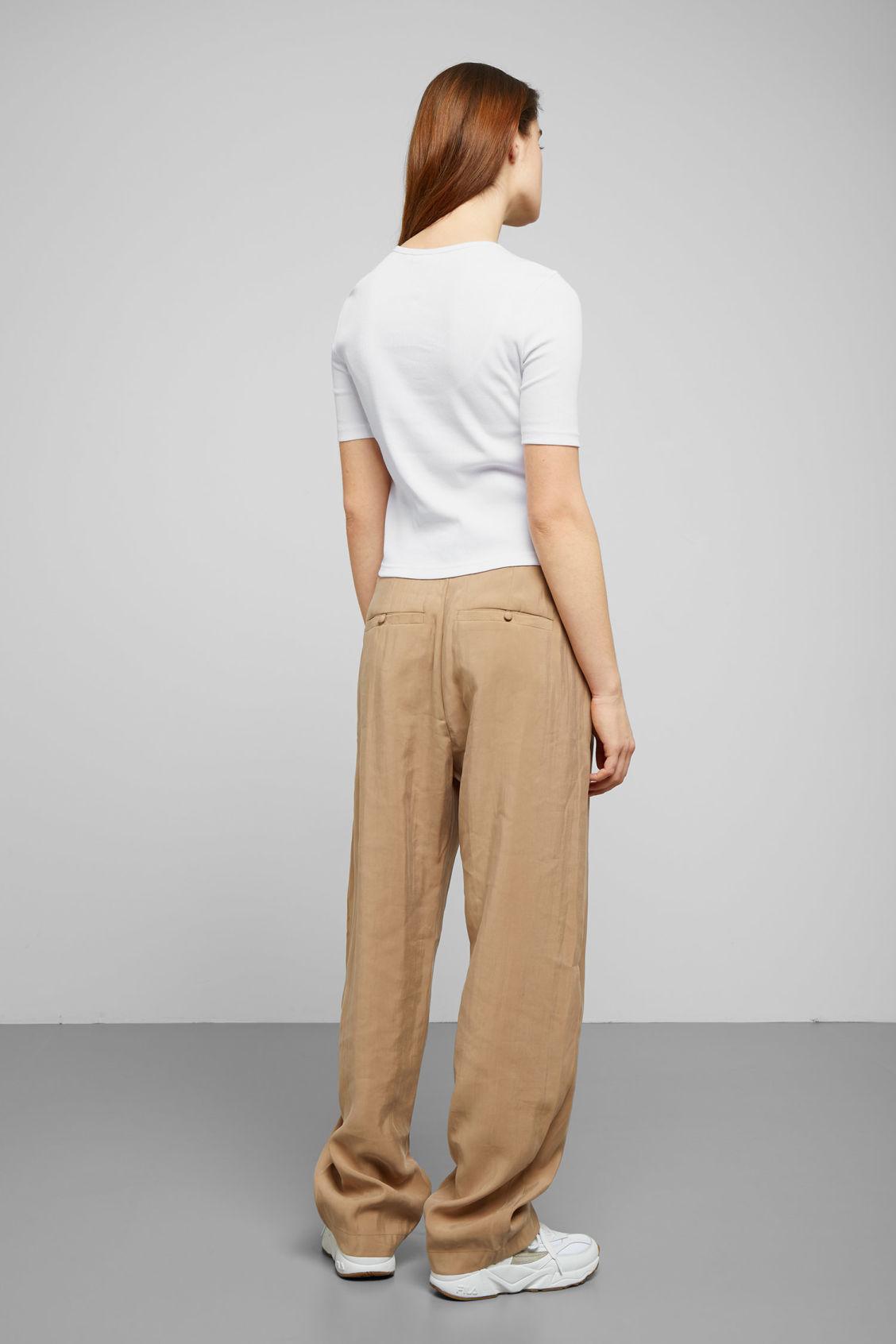 Astrid Rib Tops Weekday T Shirt White 0wnOPk