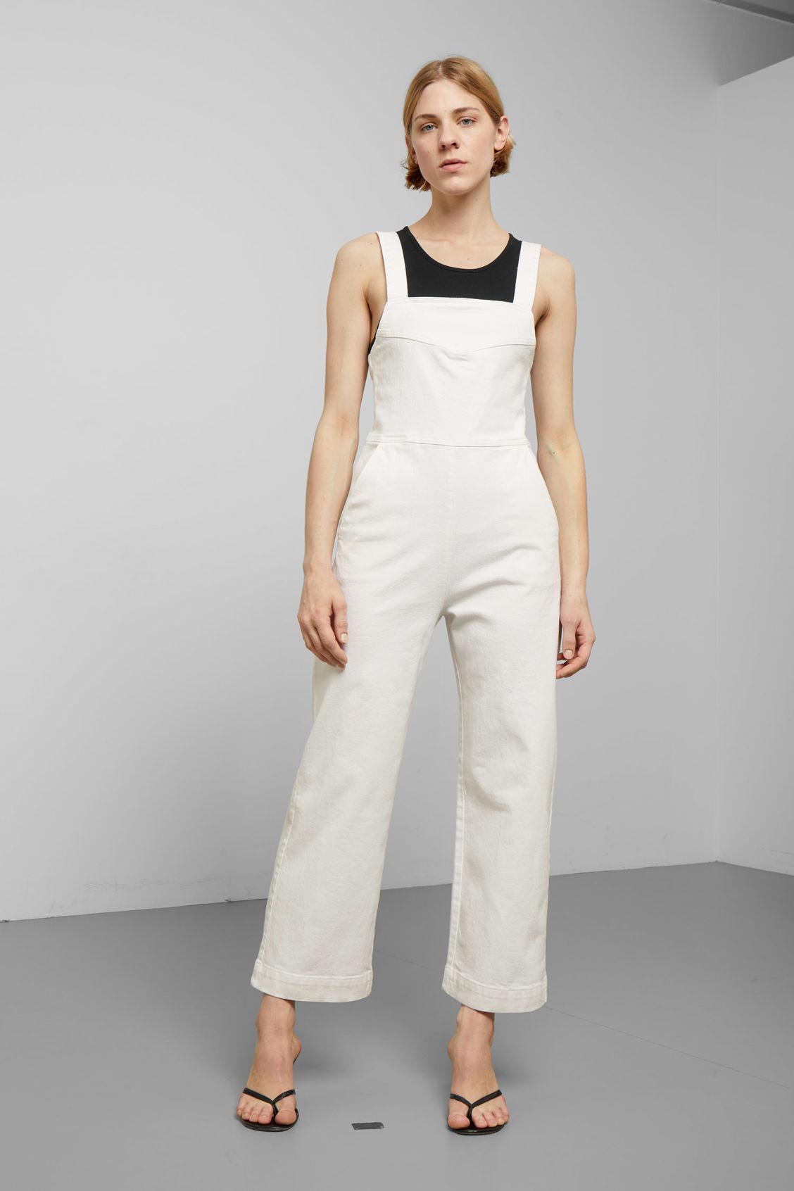 d6866be9b3 Junip White Denim Jumpsuit - White - Dresses   Jumpsuits - Weekday