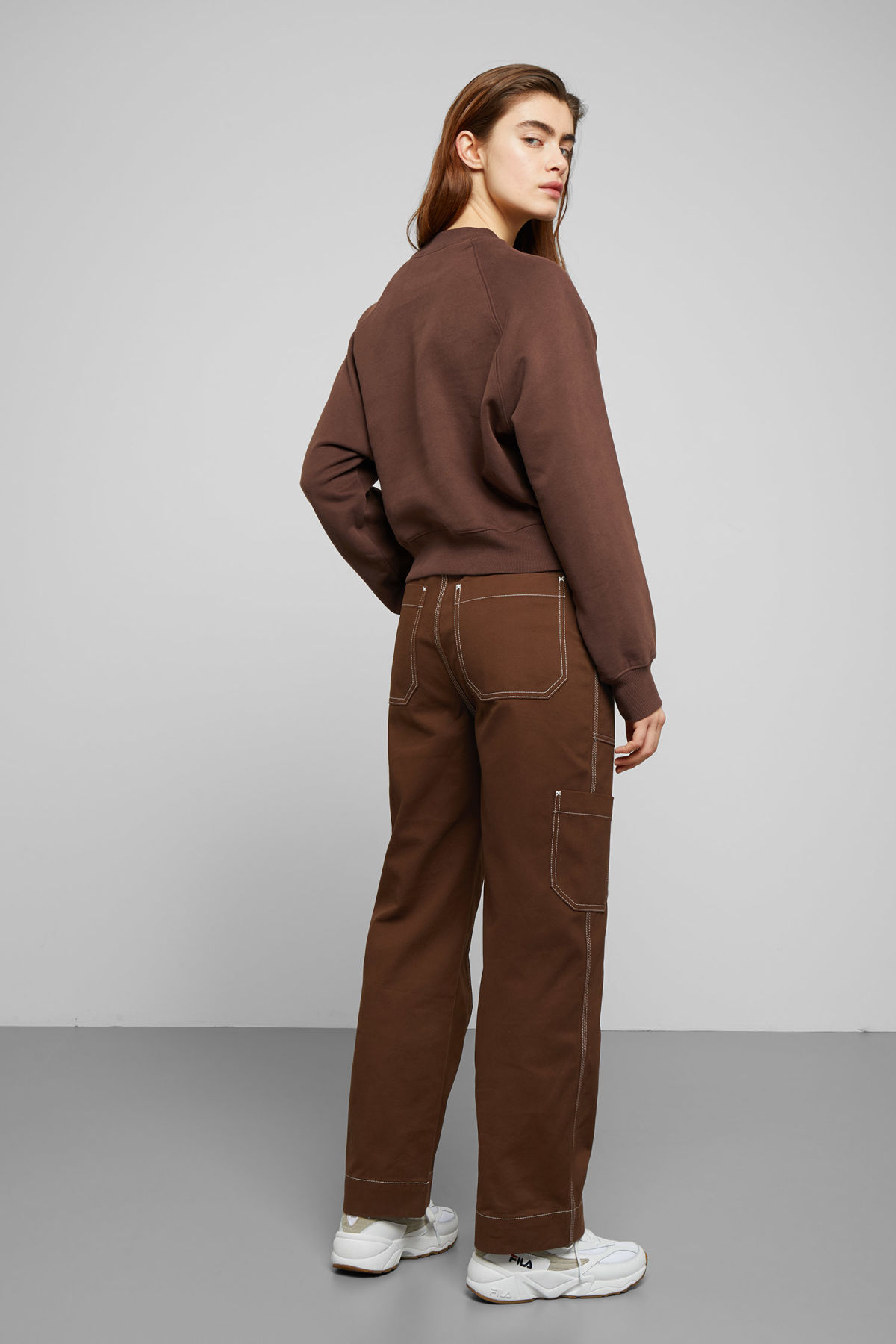 Model back image of Weekday  in beige