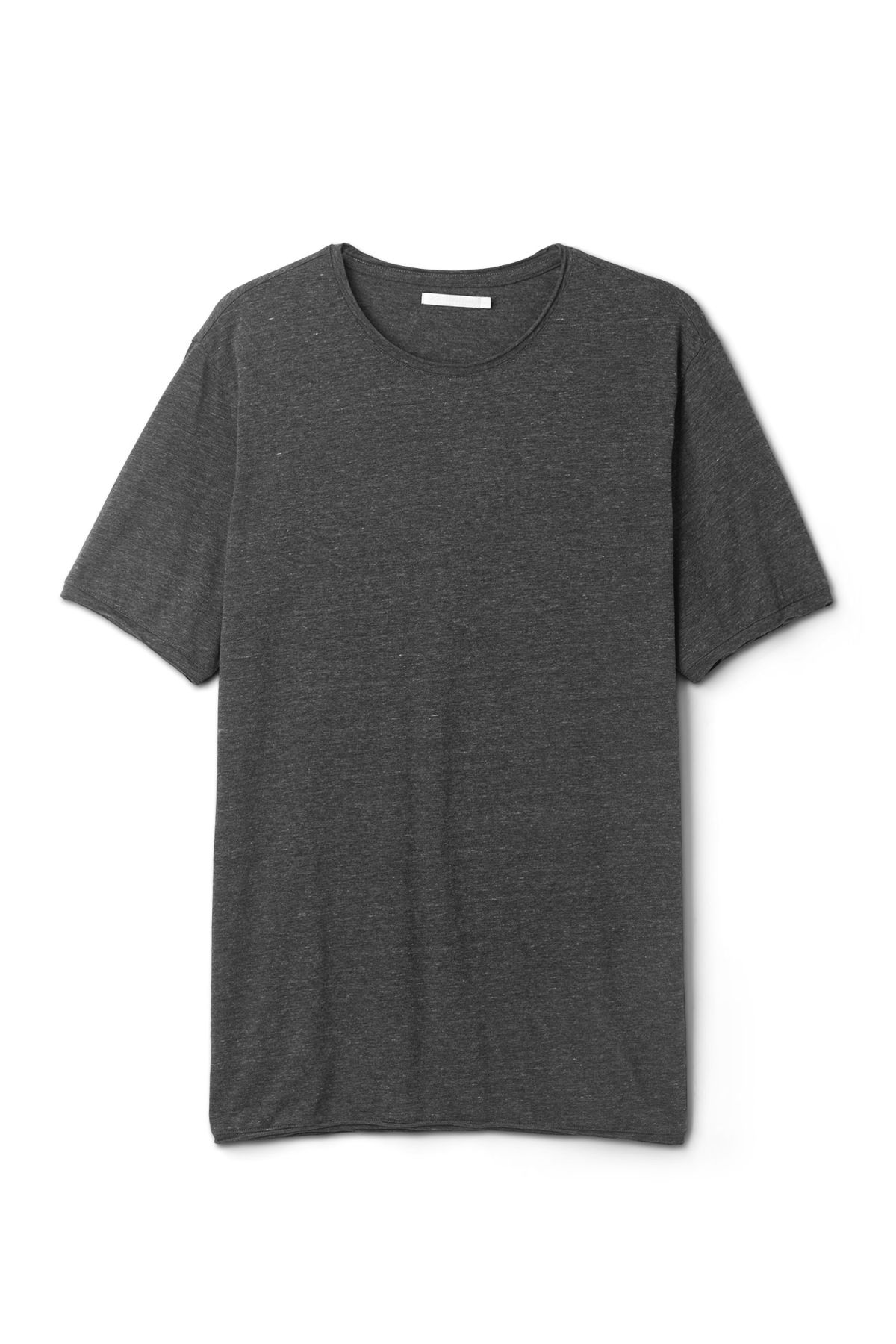 Front image of Weekday dark t-shirt in grey