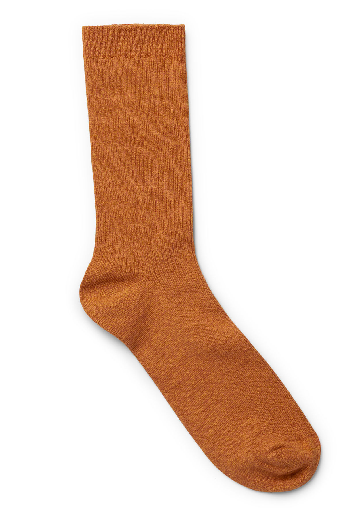 Front image of Weekday foot rib socks in orange