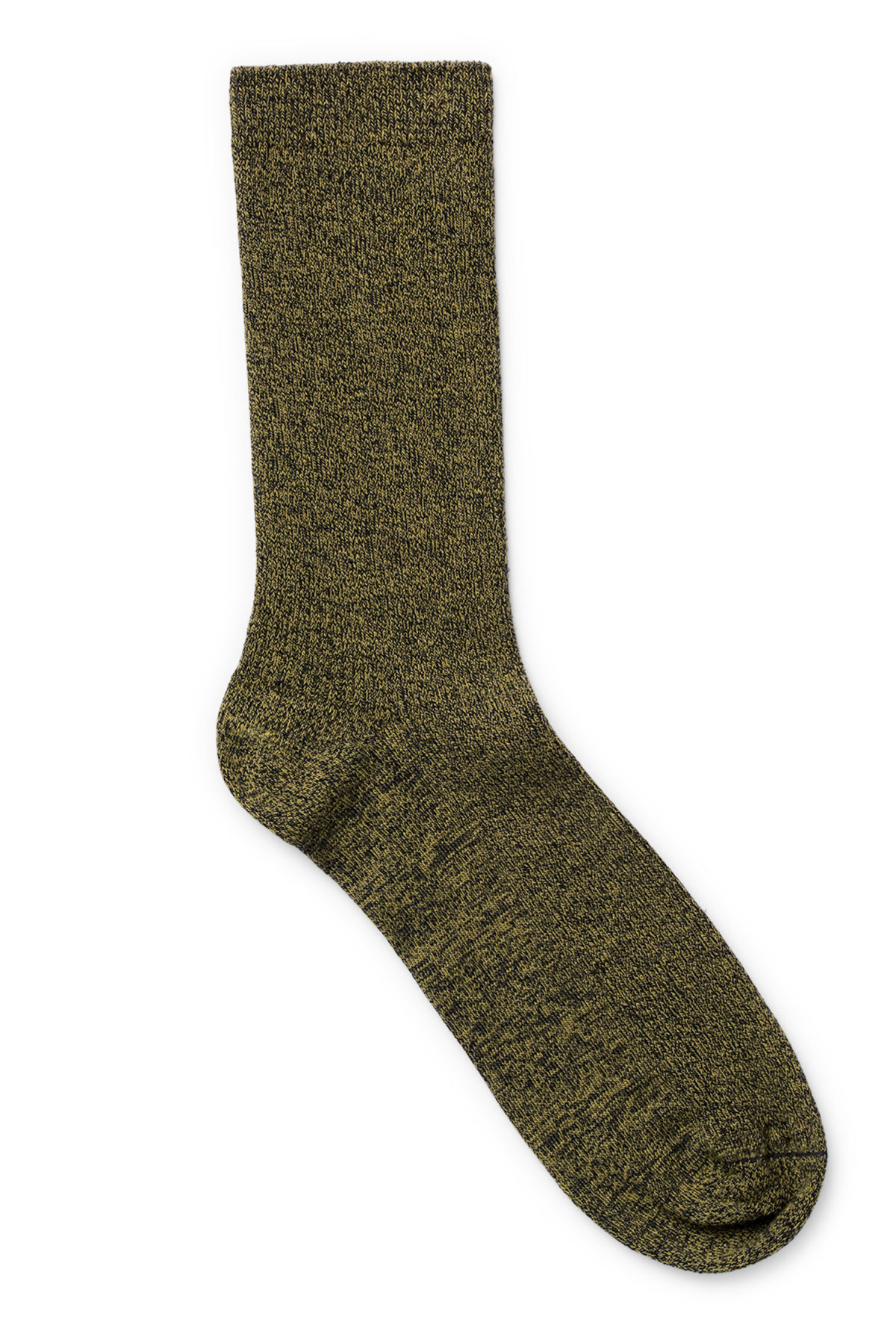 Front image of Weekday foot rib socks in yellow