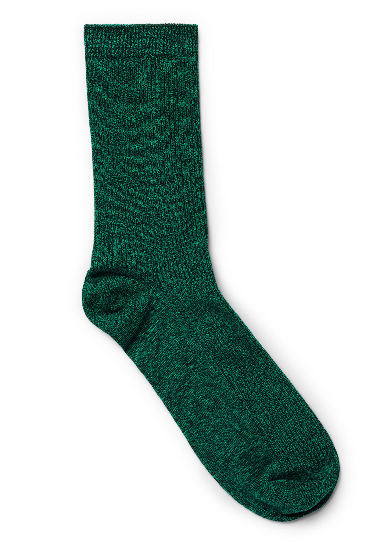 Front image of Weekday foot rib socks in green