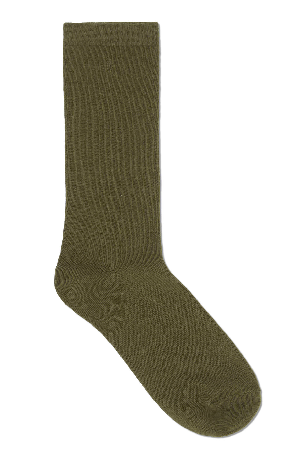 Front image of Weekday feet sock in green