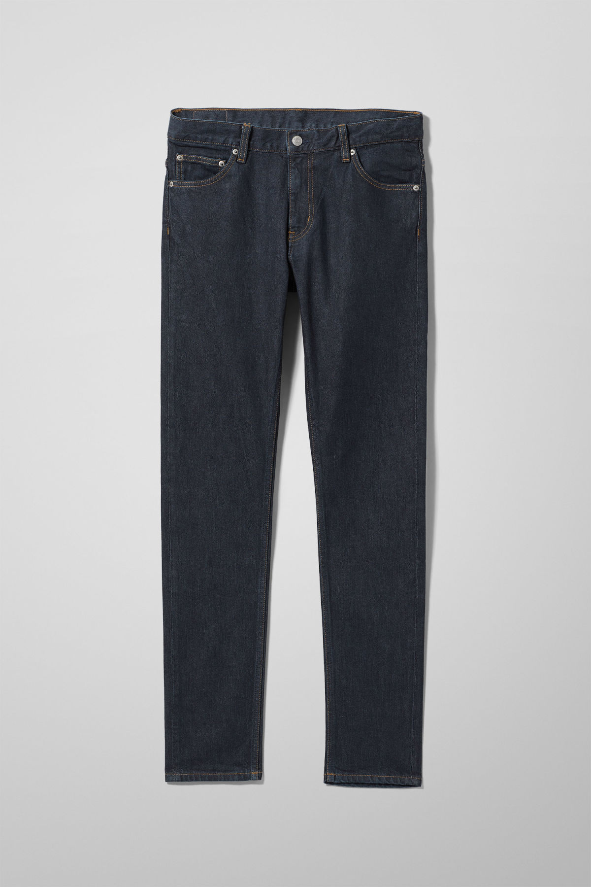 Front image of Weekday friday dark rinse jeans in blue