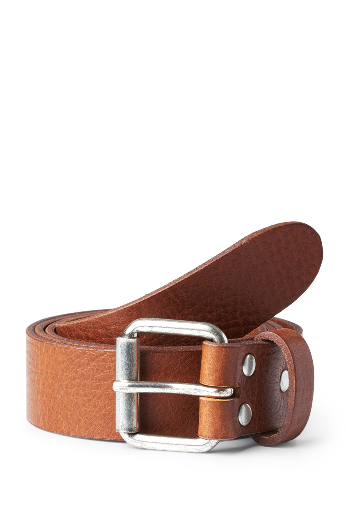 Front image of Weekday perfect leather belt in beige
