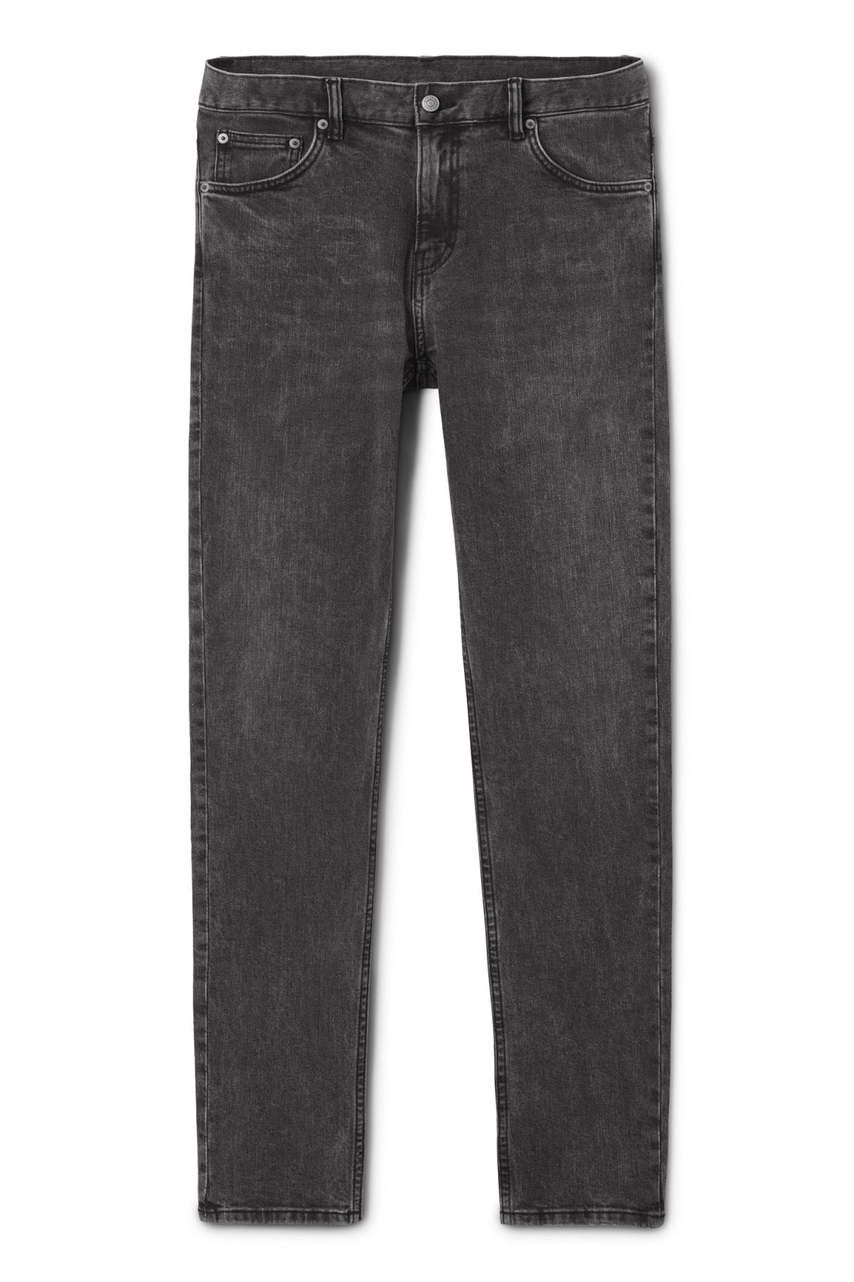 Front image of Weekday friday generic light jeans in grey