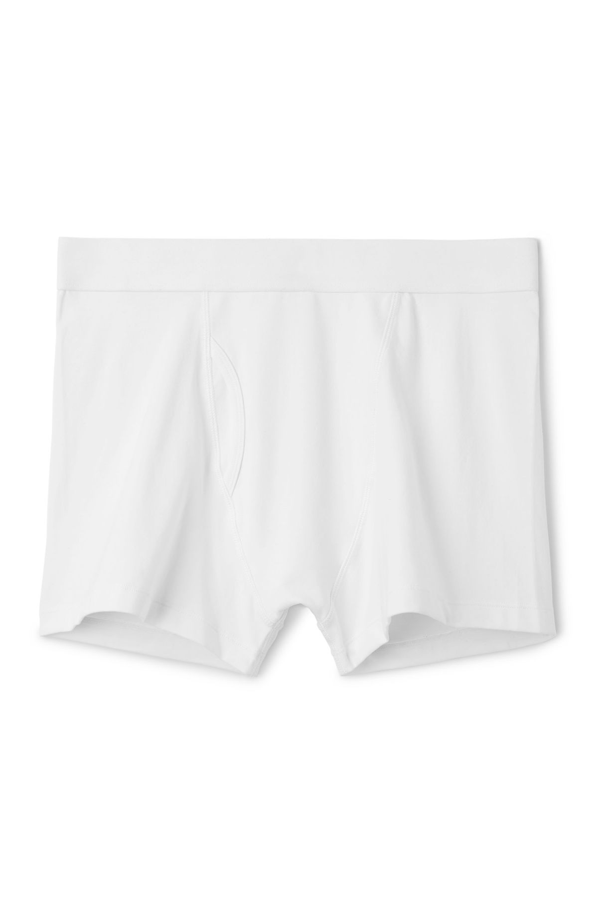 Front image of Weekday johnny trunks in white