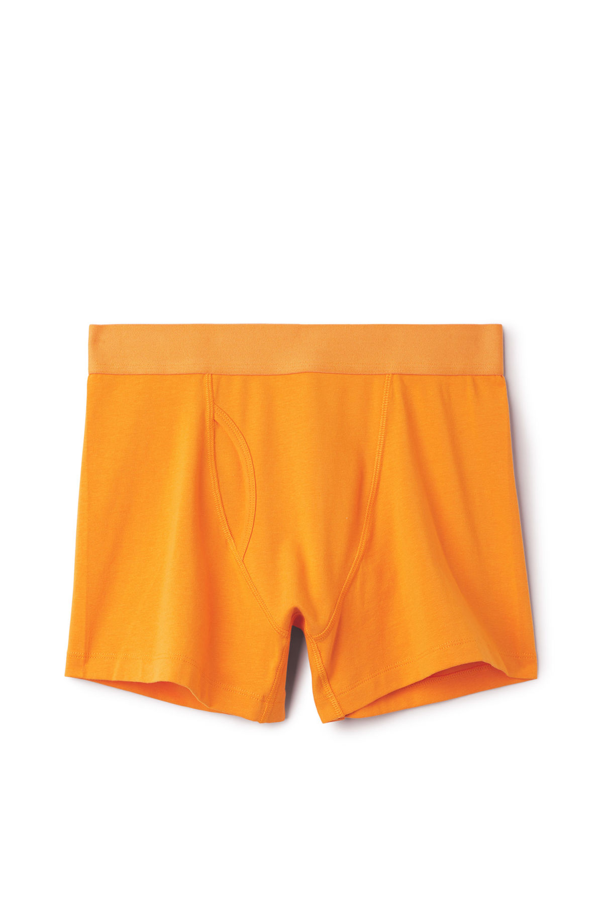 Front image of Weekday johnny trunks in yellow