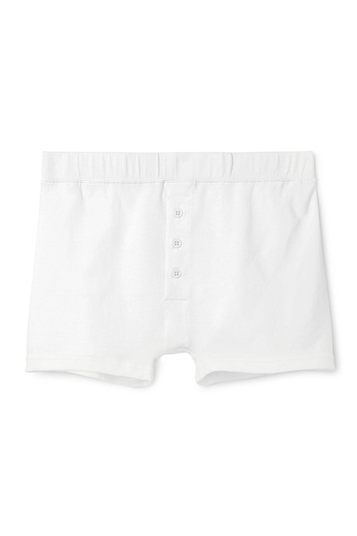 Front image of Weekday nat trunks in white