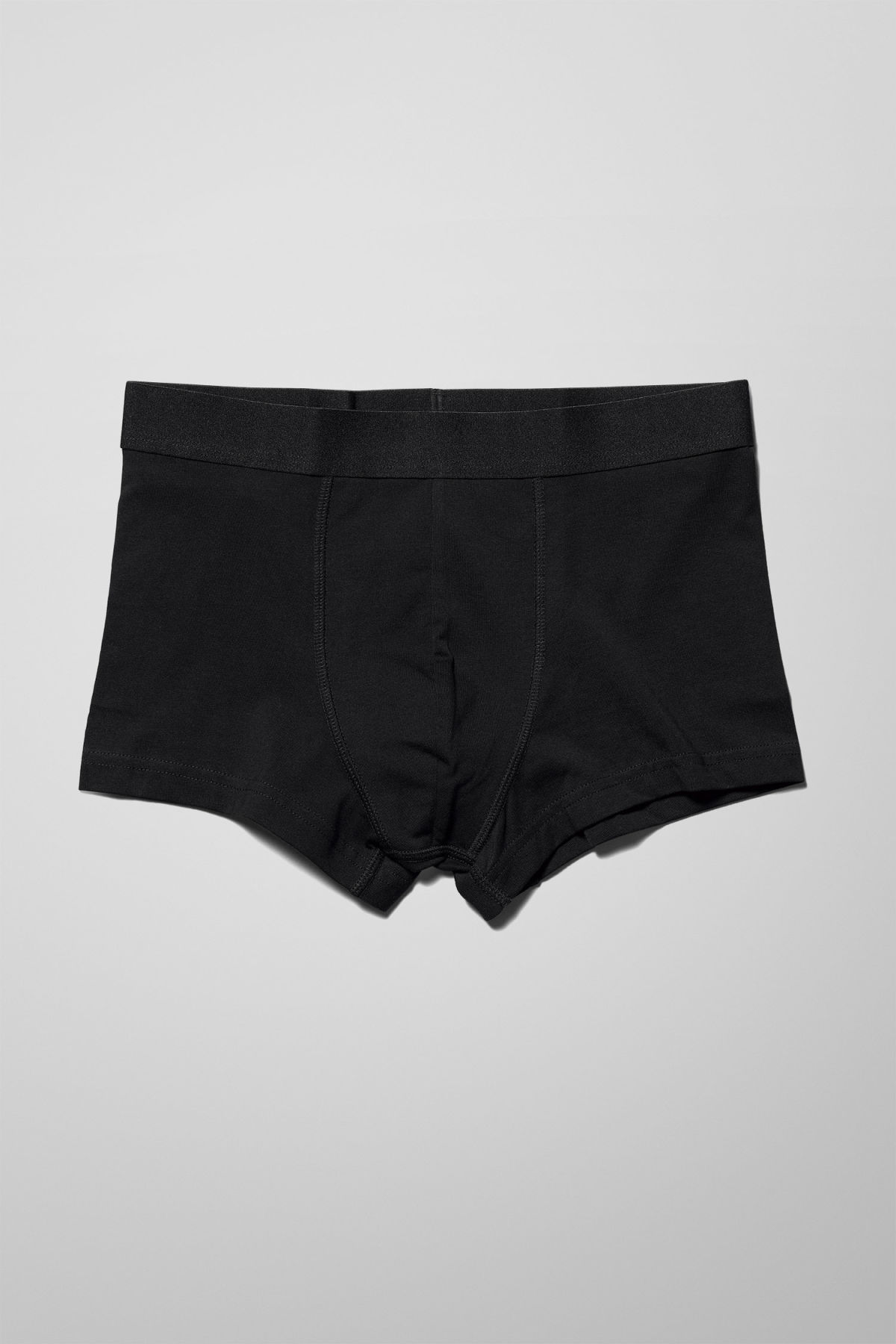 Front image of Weekday dylan trunks in black