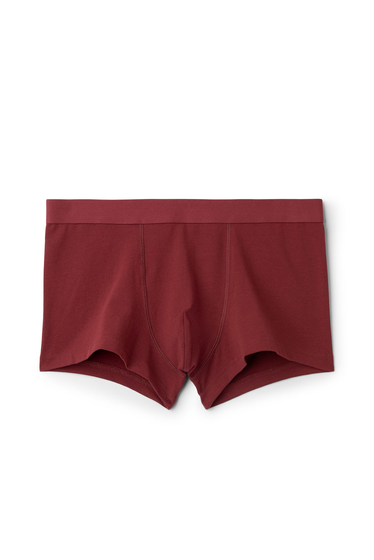 Front image of Weekday dylan trunks in red