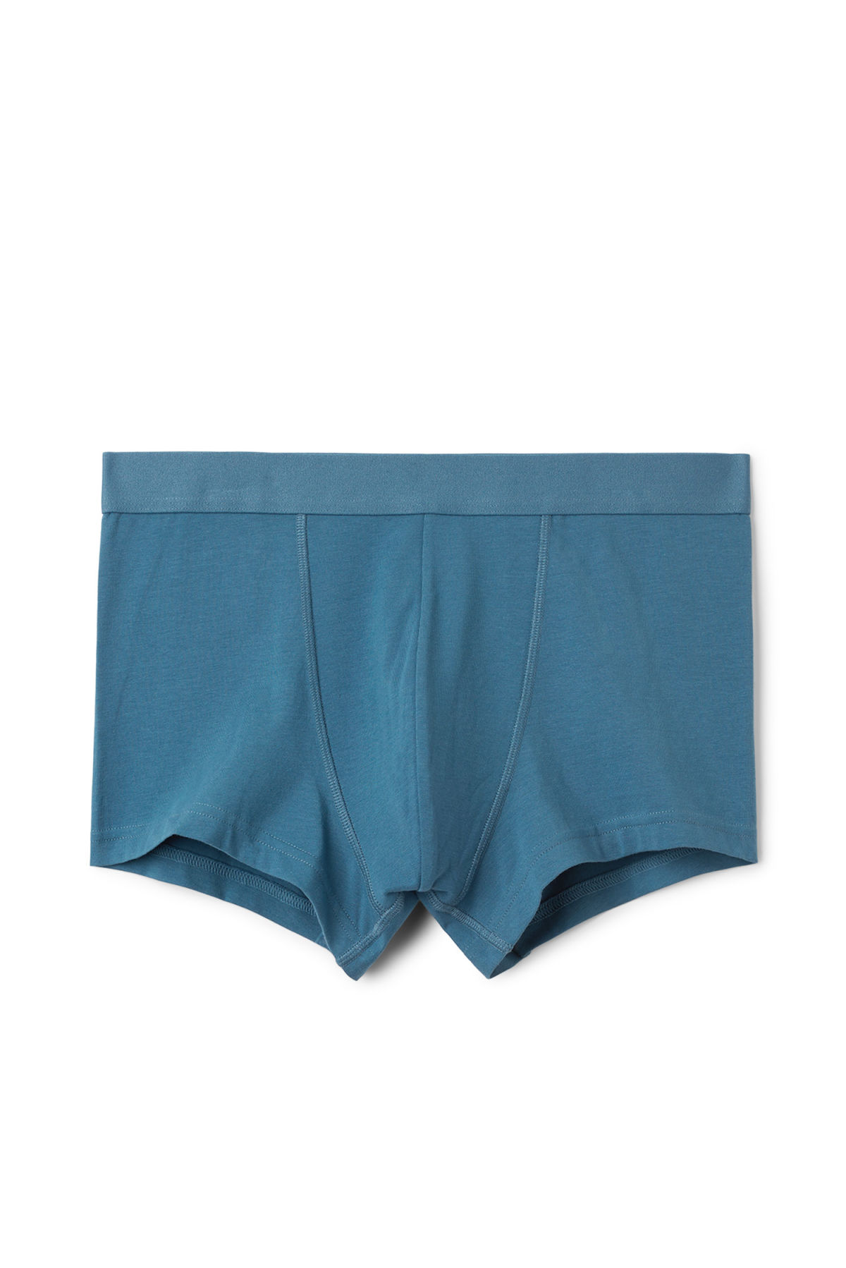 Front image of Weekday dylan trunks in blue