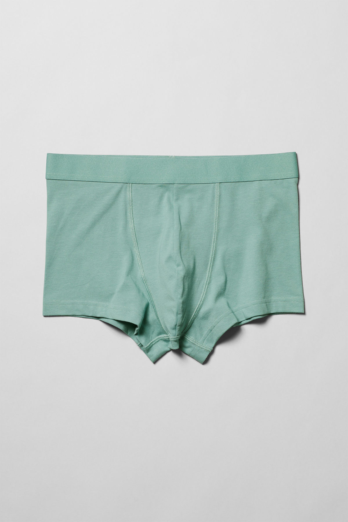 Front image of Weekday dylan trunks in turquoise