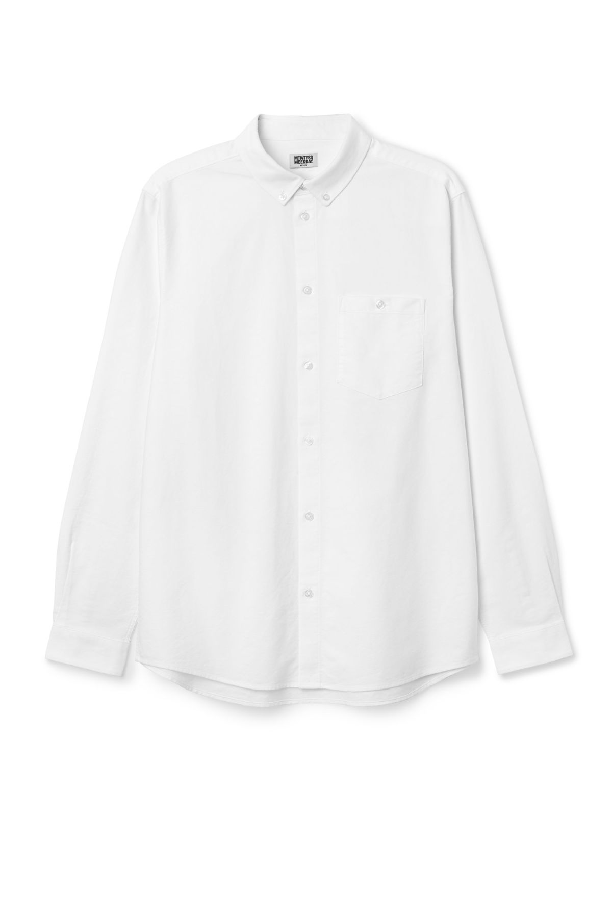 Front image of Weekday bad times shirt in white