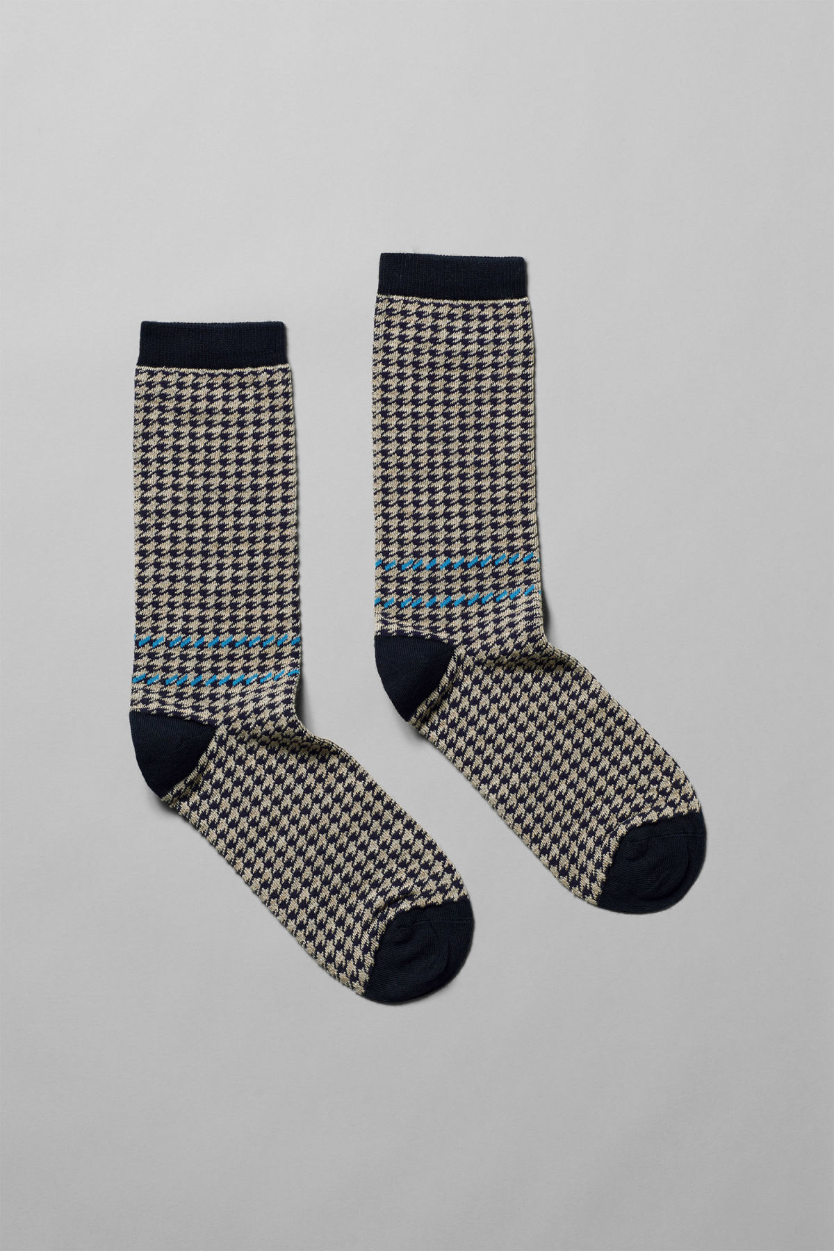 Front image of Weekday feet jacquard socks in brown
