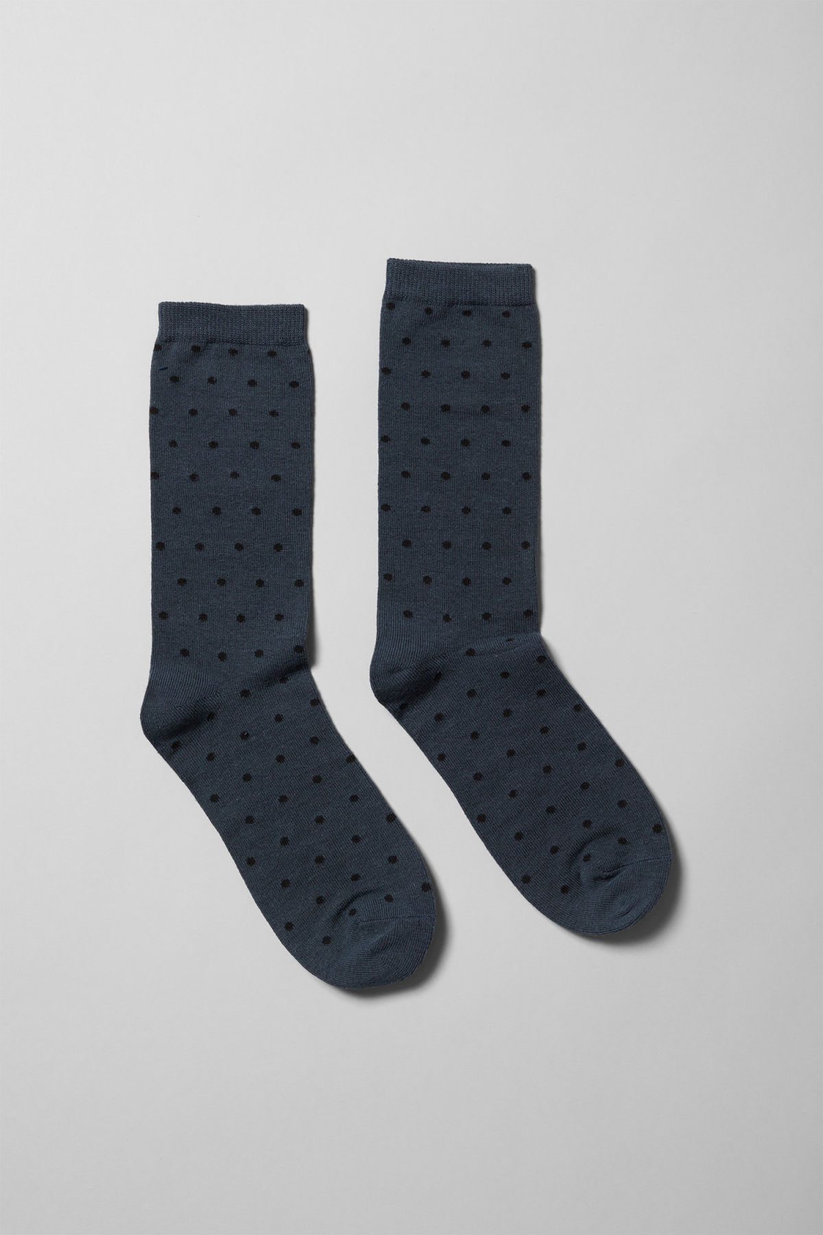Front image of Weekday feet jacquard socks in blue