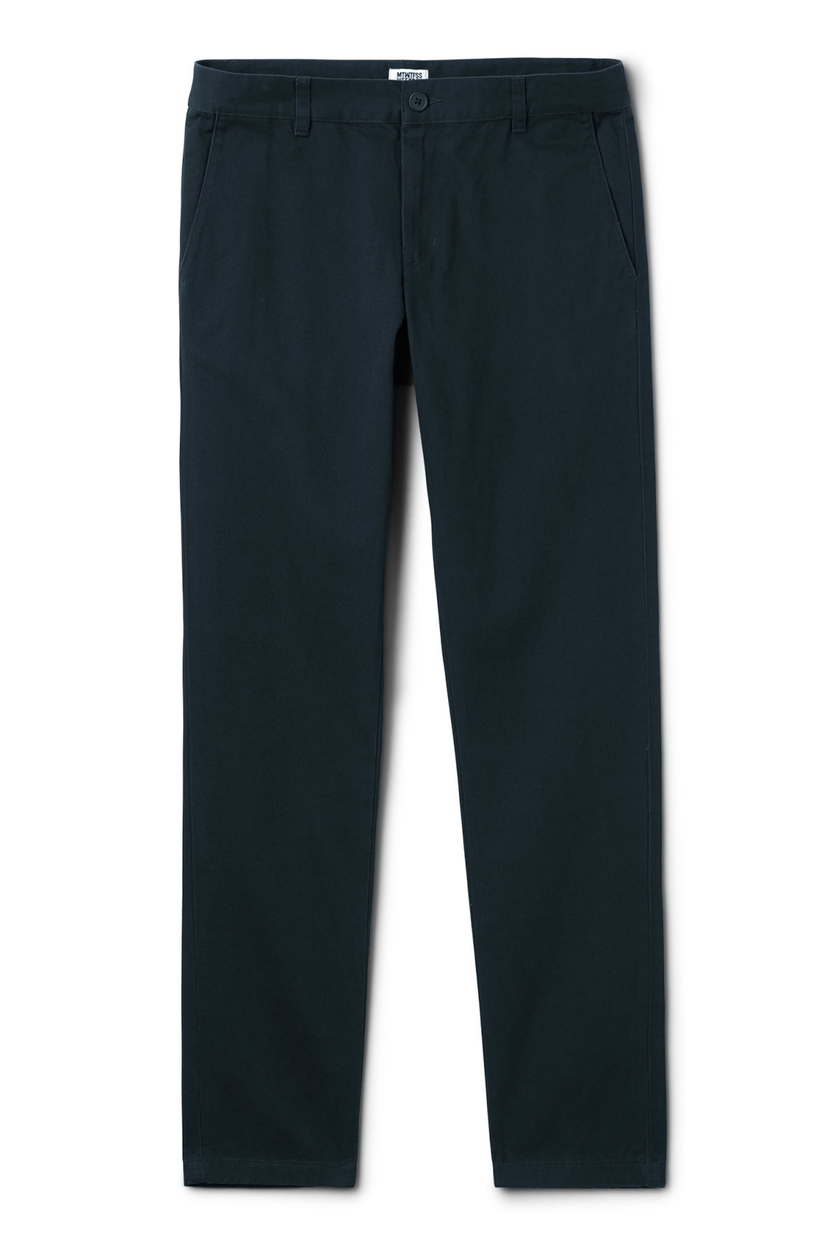 Front image of Weekday wood chinos in blue