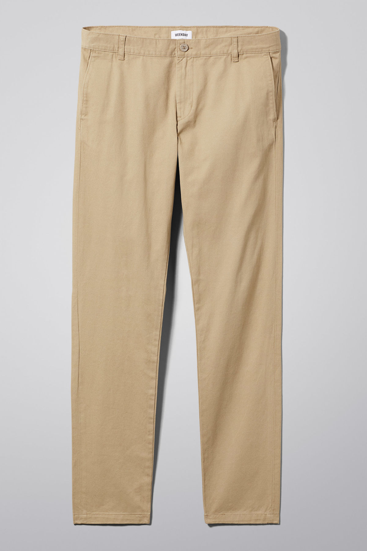 Front image of Weekday wood chinos in beige