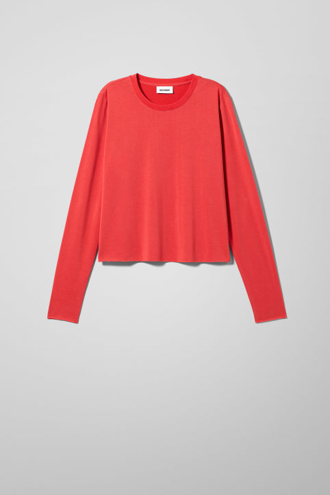 Weekday Cropped Long Sleeve T-Shirt