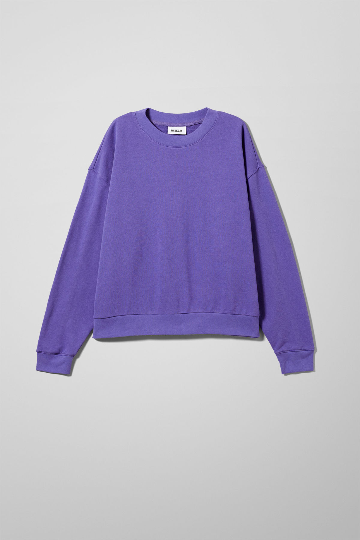 Front image of Weekday huge cropped sweatshirt  in purple