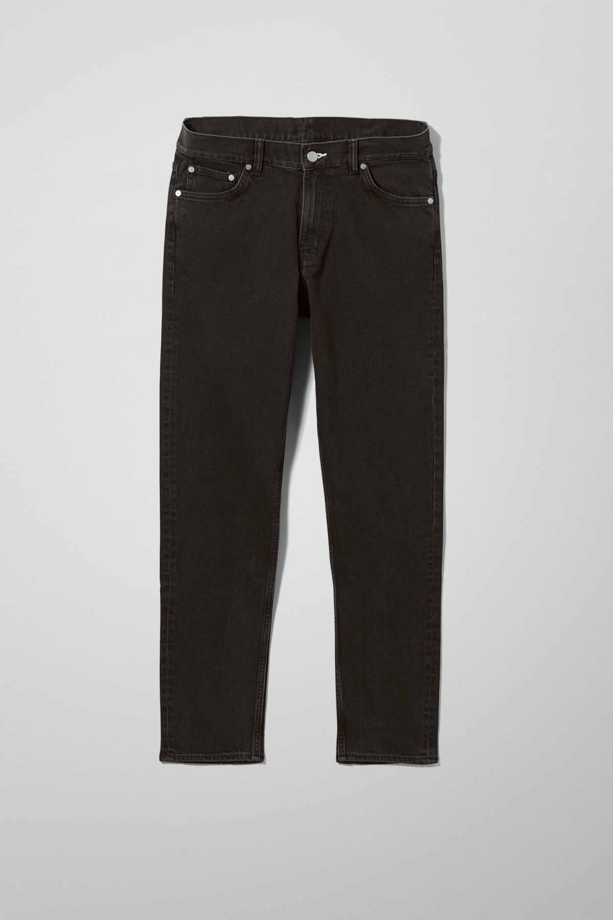 Front image of Weekday sunday tuned black jeans in black